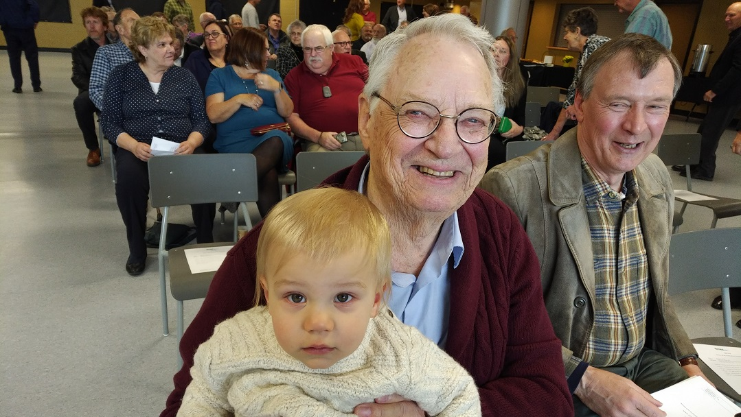 Bob Nixon with his great grandson