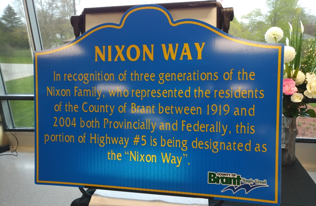 a sign reading Nixon Way