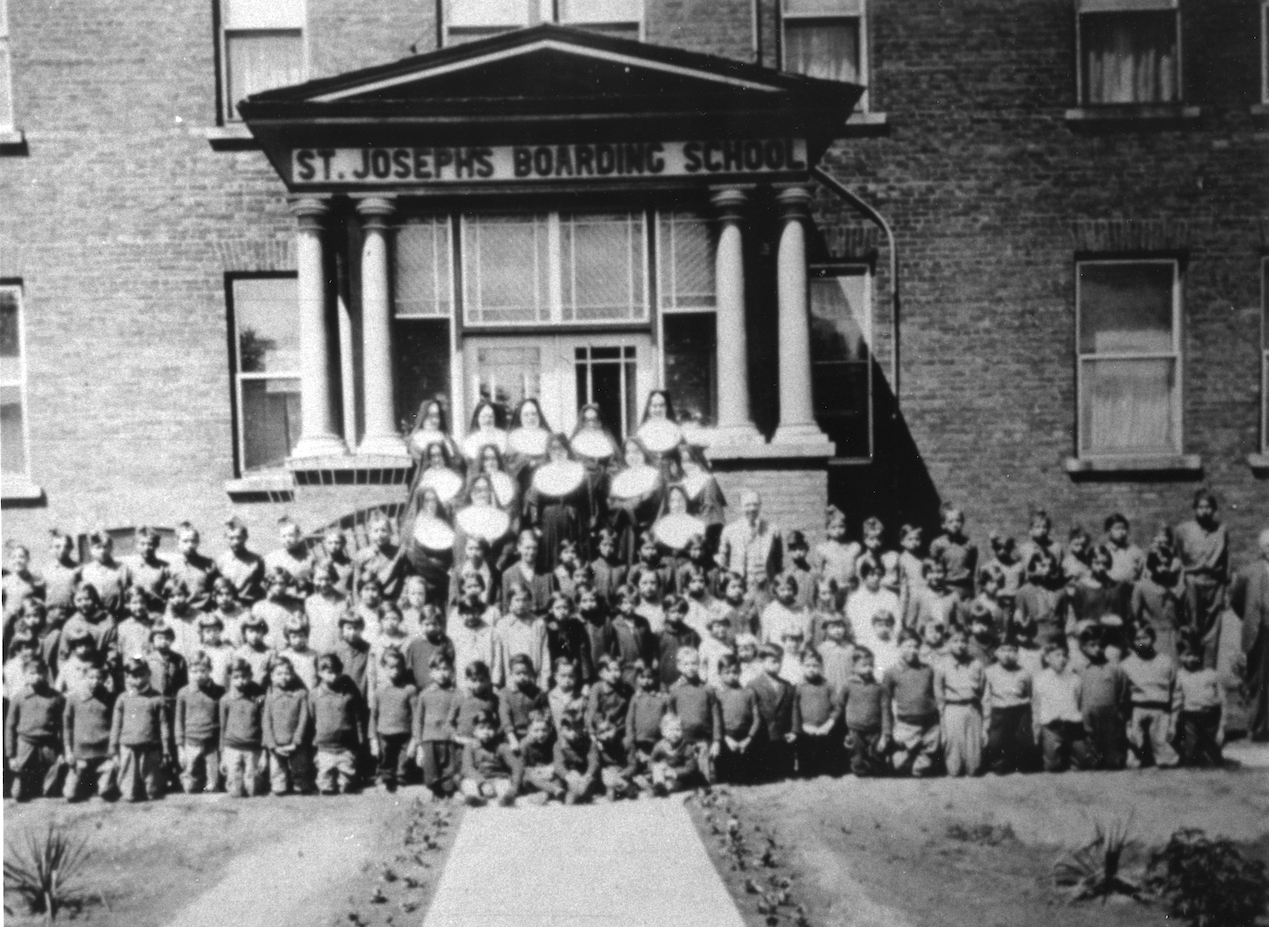 Children and nuns at the St. Joseph Indian Residential School