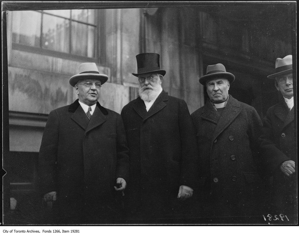 an archival photo of U of T professors