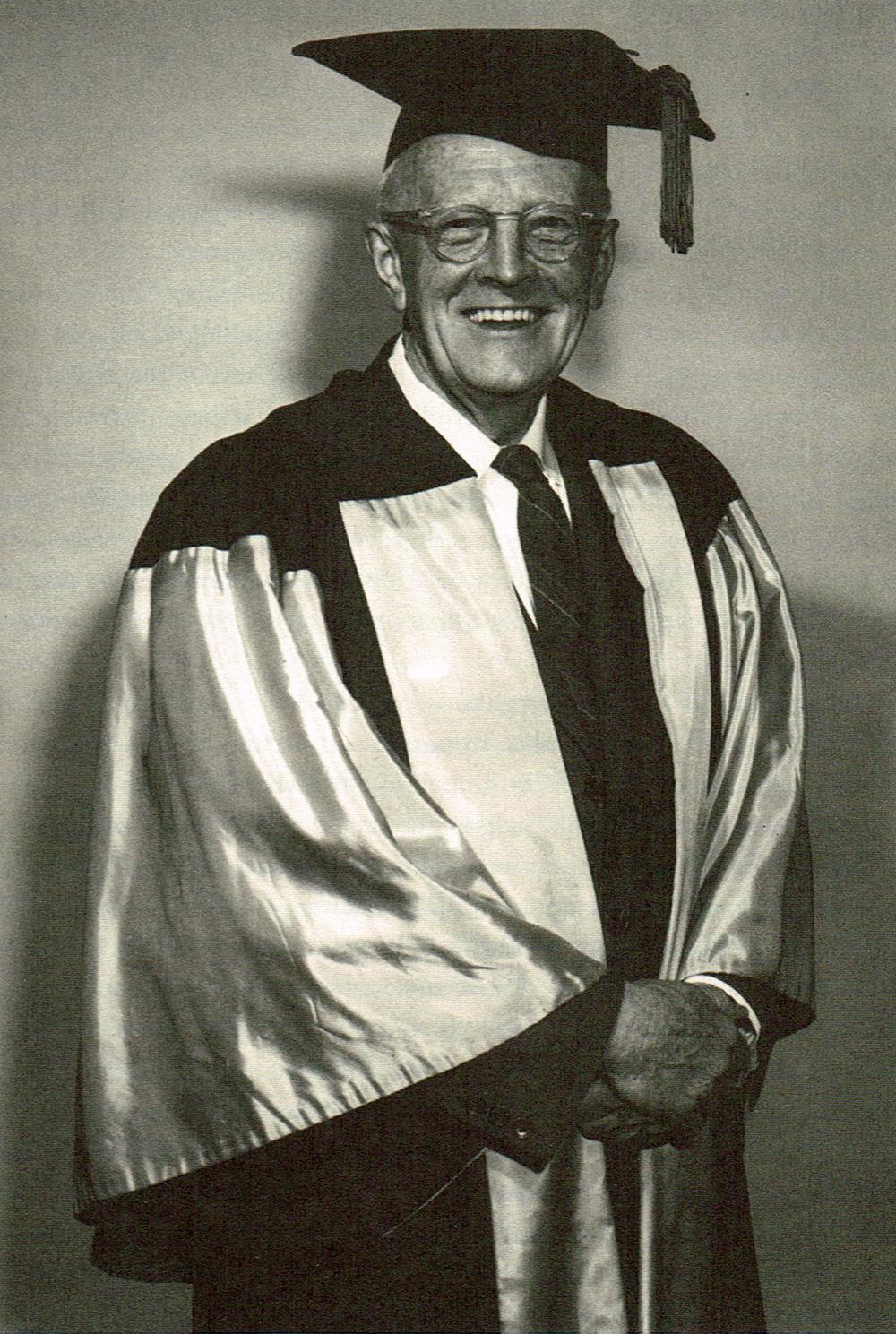 an archival photo of Frank Underhill, a U of T professor