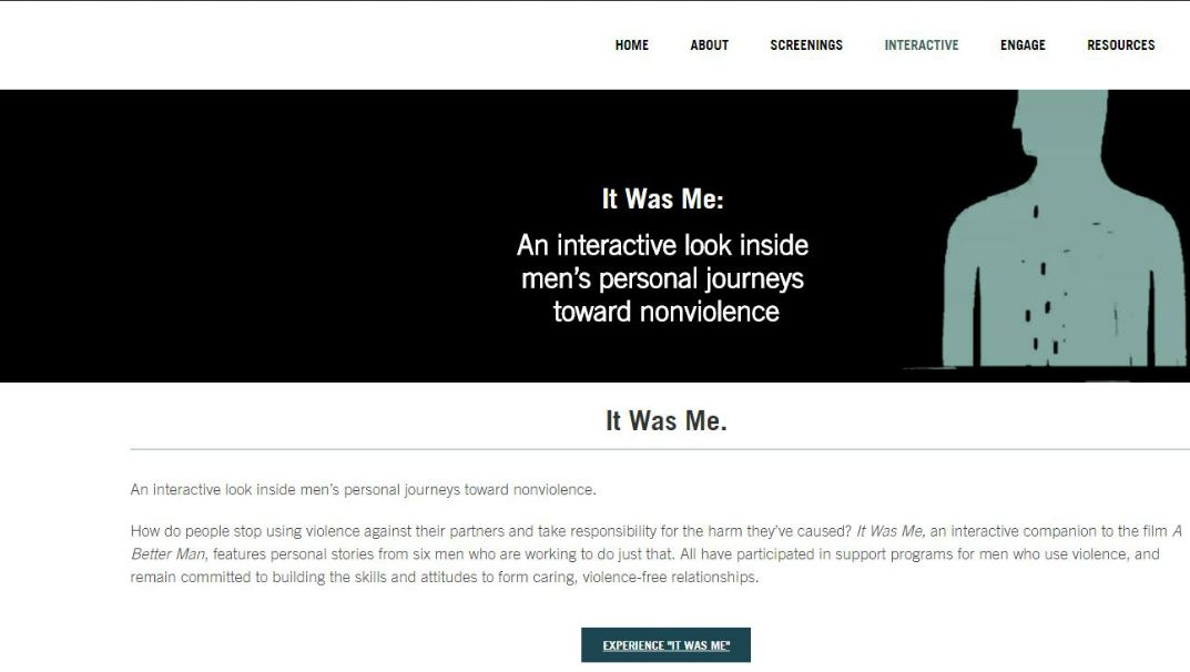 "a website titled, ""It Was Me."""