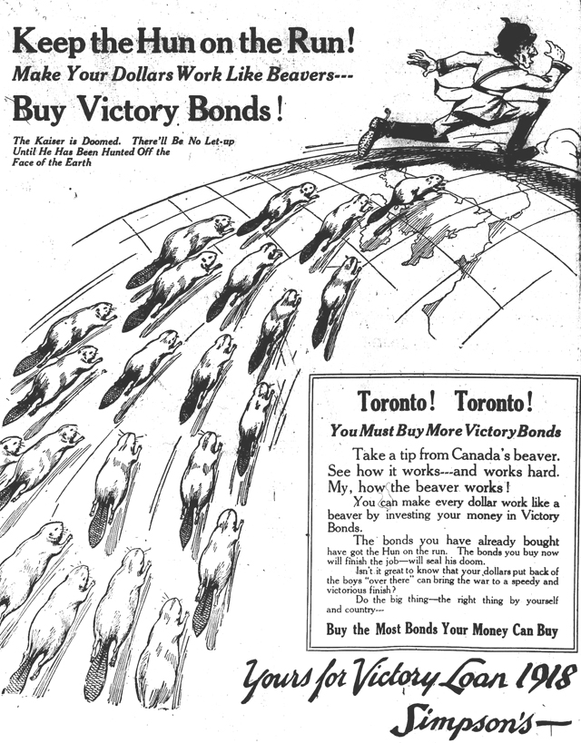 an archival ad for Victory Bonds in 1918