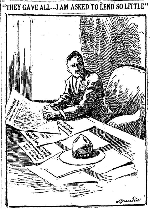 a newspaper cartoon from 1918