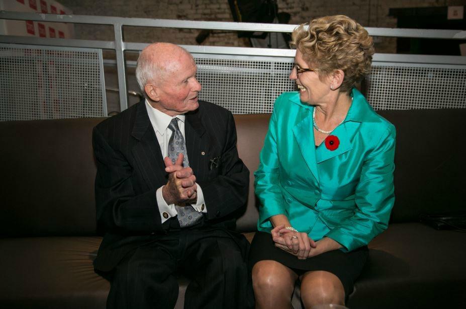Bill Davis and Kathleen Wynne