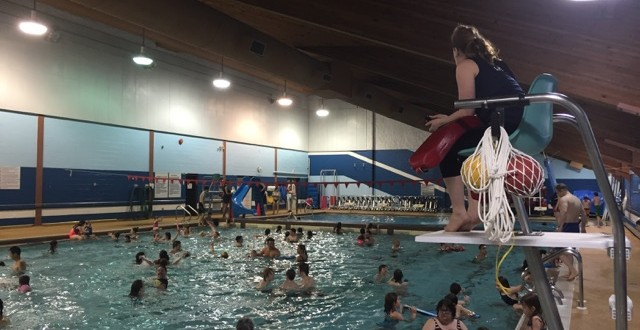 an indoor pool in Timmins, Ontario