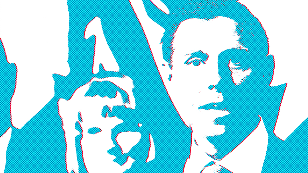 Stylized image of Patrick Brown