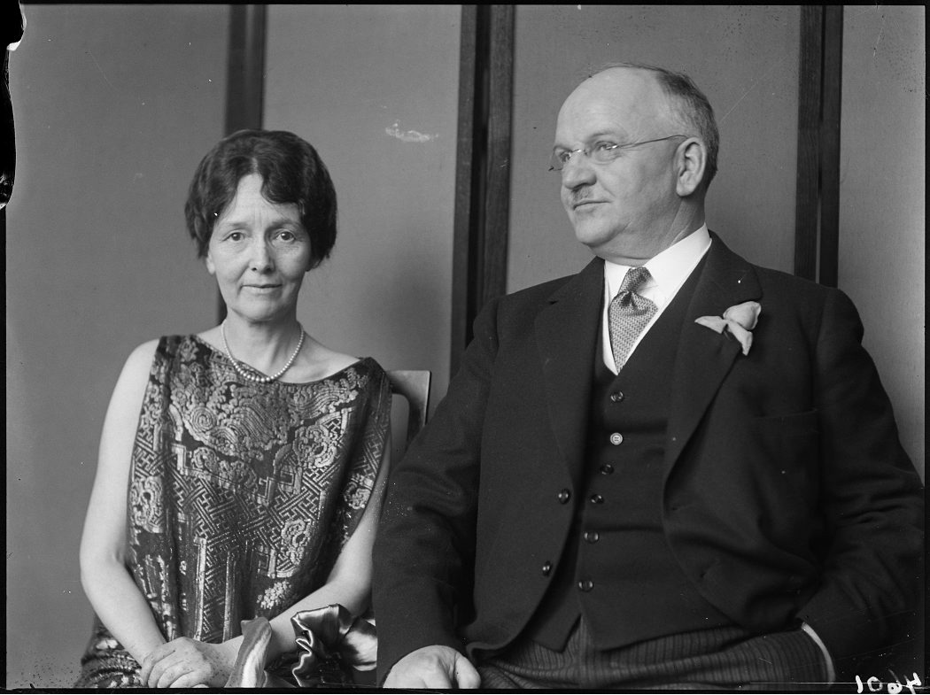 an archival photo of Ontario premier Howard Ferguson and his wife