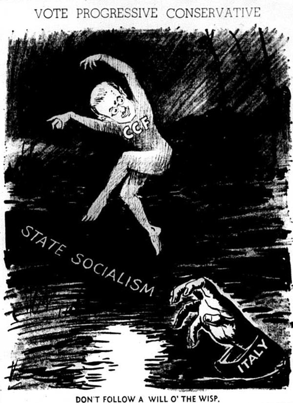 an archival political cartoon in a newspaper
