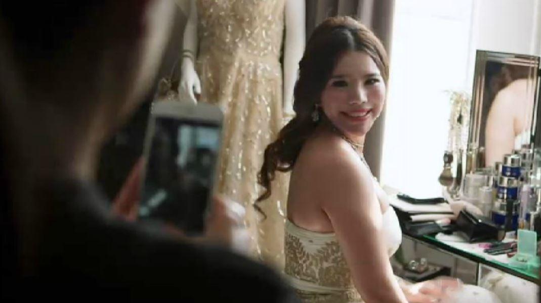 a woman looking at camera