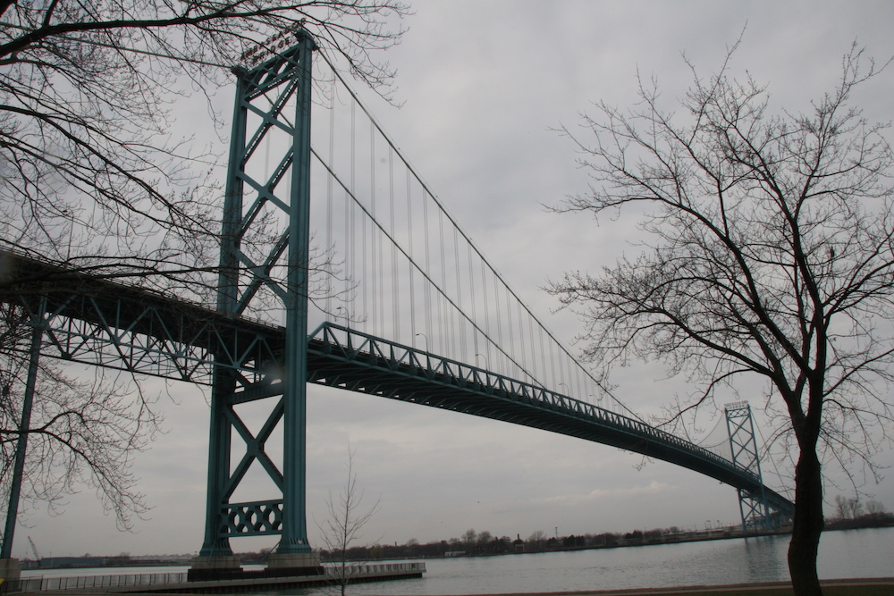 a large bridge over water