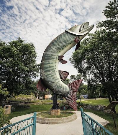 giant fish statue