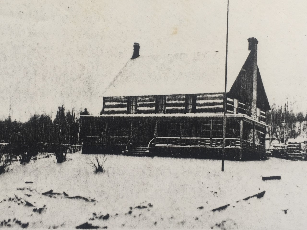 a old wooden building