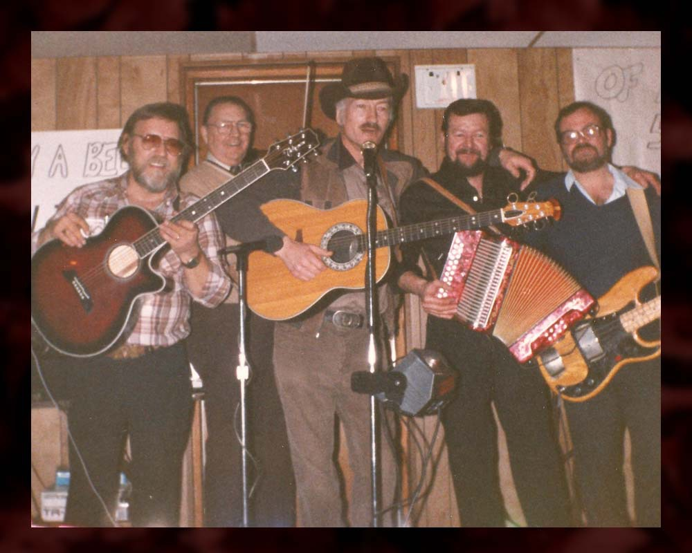 Tom Connors poses with his band for his 50th birthday. (Courtesy of Stompin' Tom Ltd.)