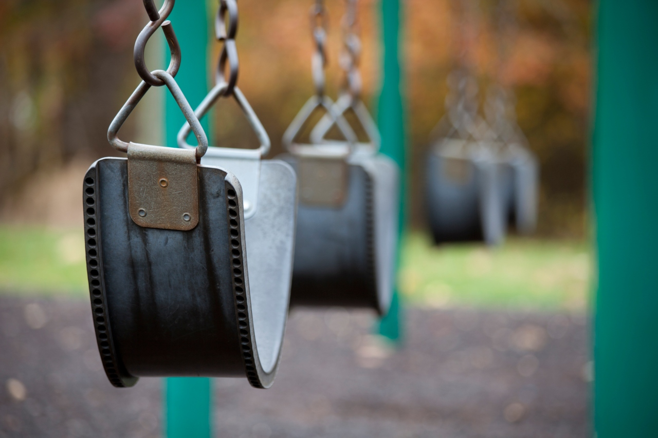 swing at a playground from the article How do you talk to your kids about a deadly pandemic?
