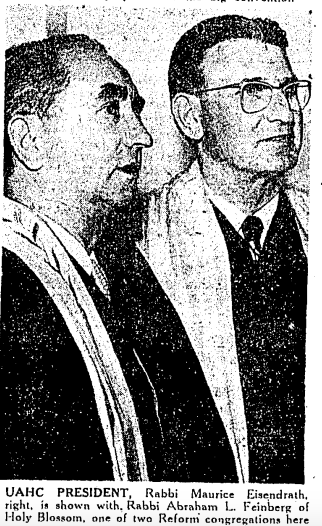 two men in a black and white newspaper photo