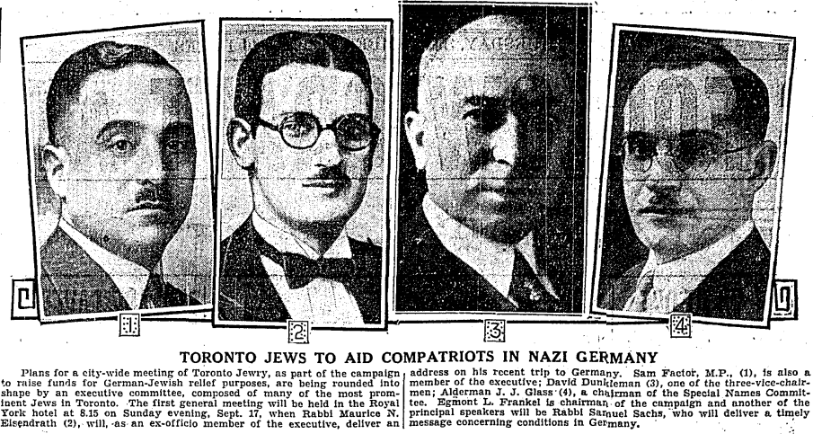 four black and white headshots from men in a newspaper