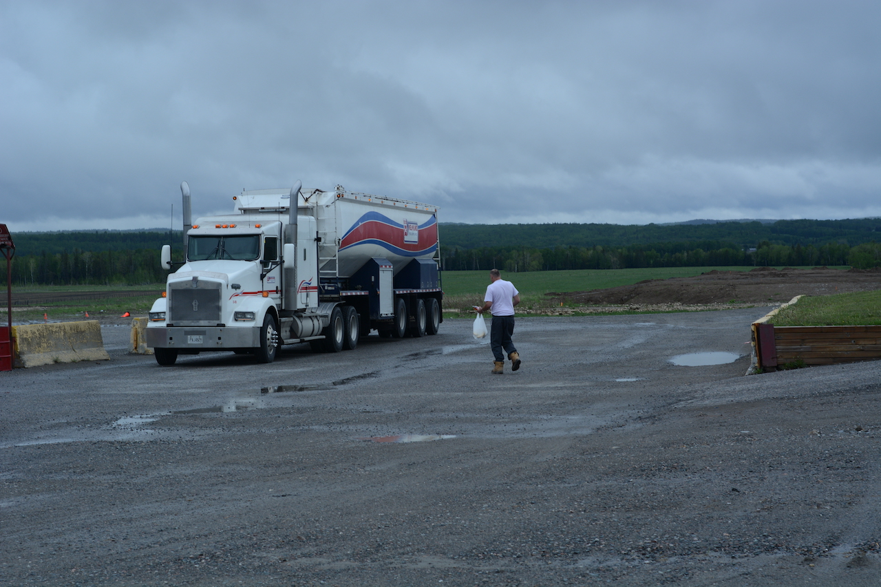 driver walking back to truck
