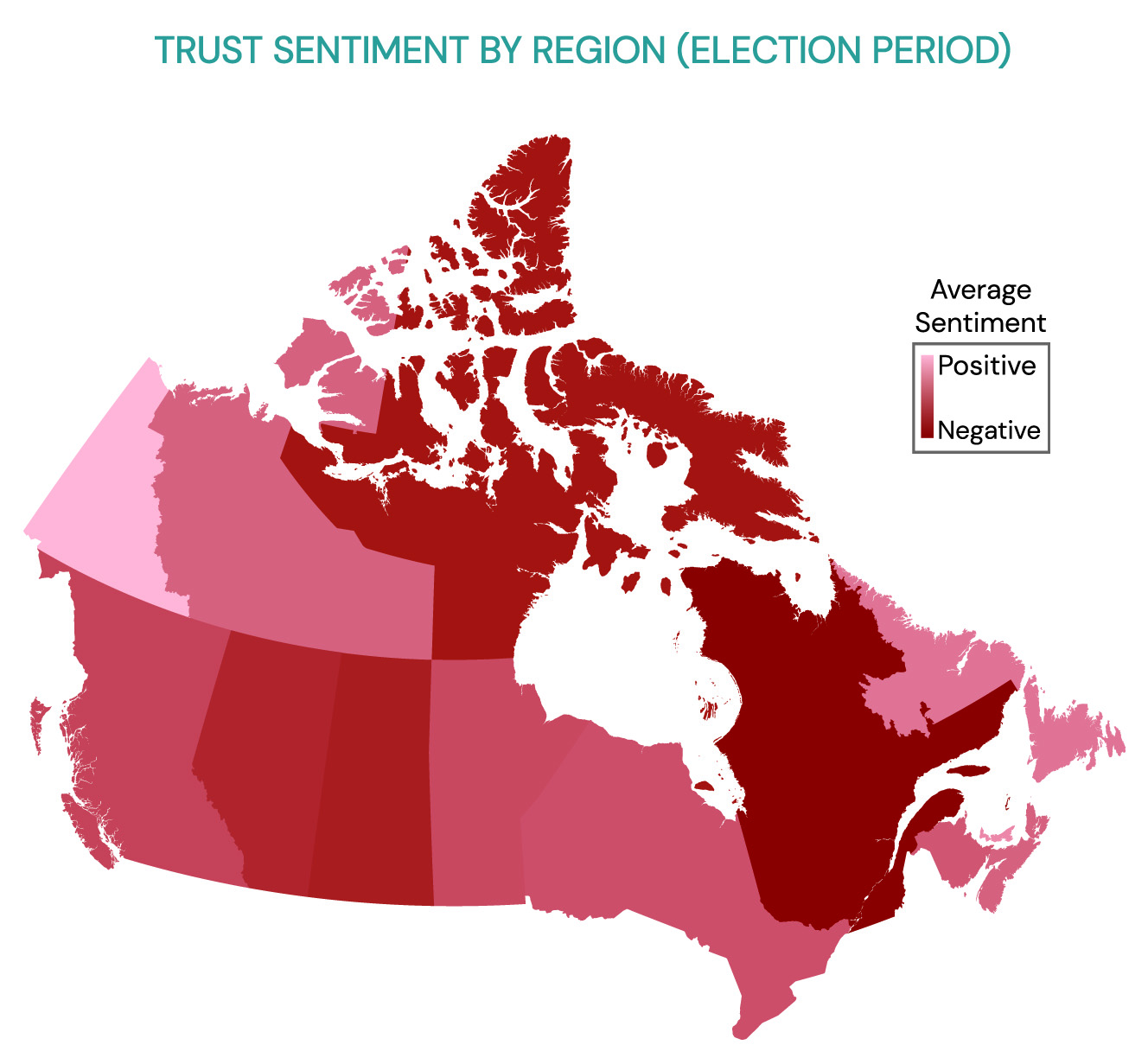 map of Canada showing trust-sentiment levels