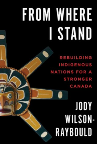 Book cover, From Where I Stand with an Indigenous mask