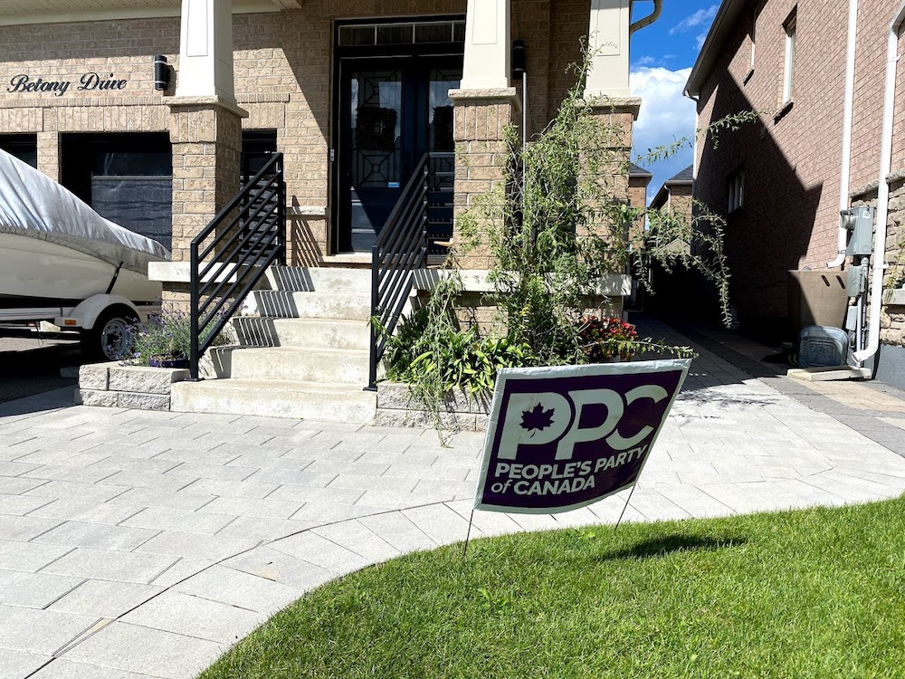 People's Party of Canada sign outside a home