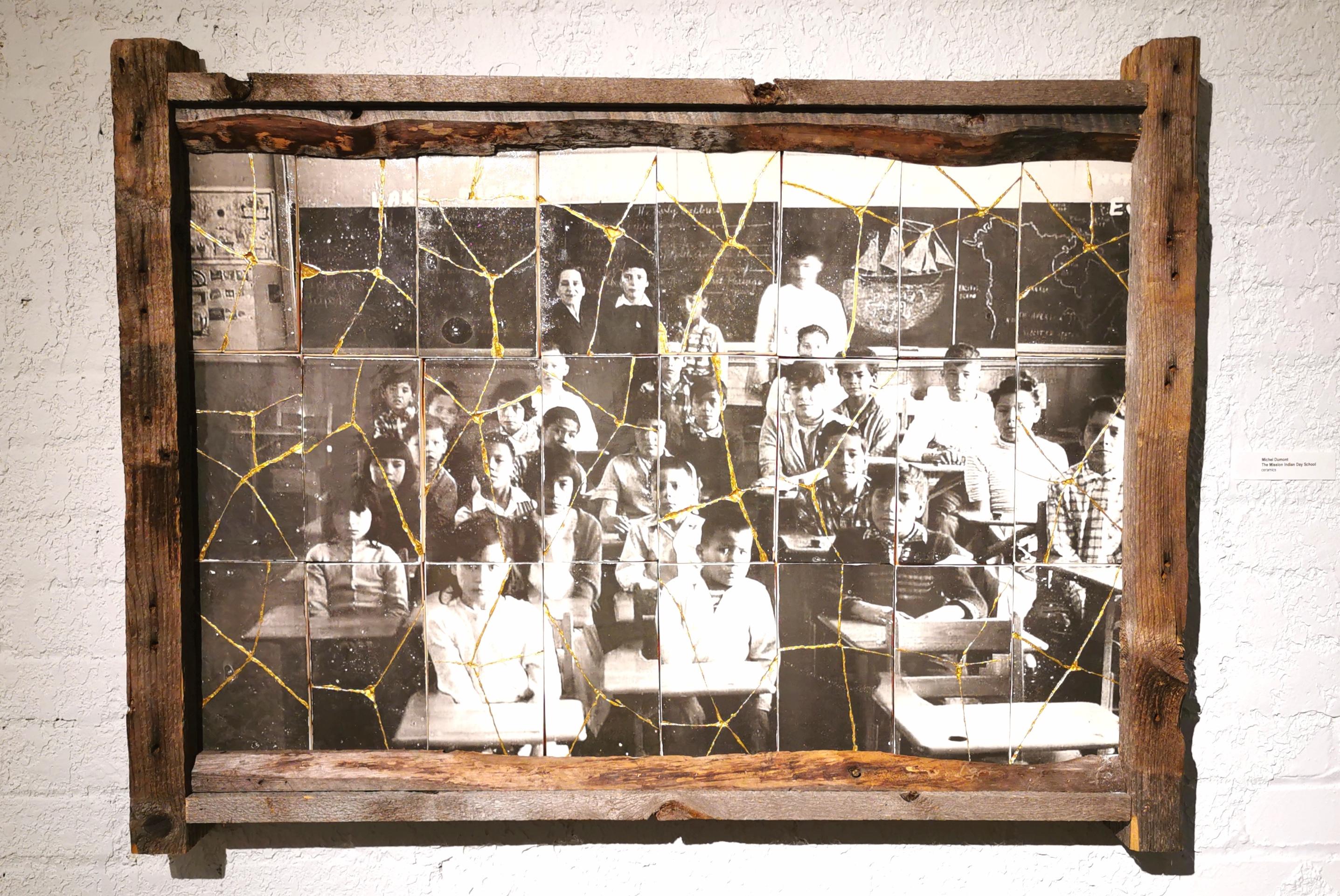 a mosaic made up of up photographs