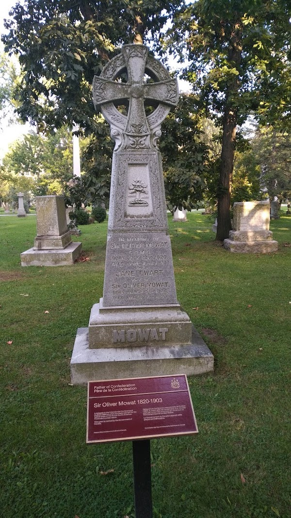 oliver mowat's headstone