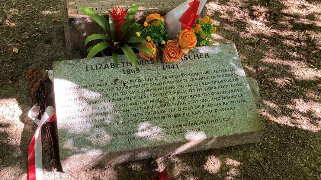 a grave marker