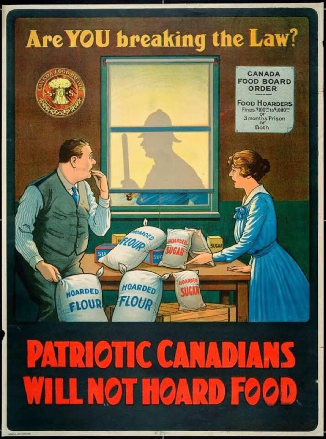 1918 poster from the Canada Food Board