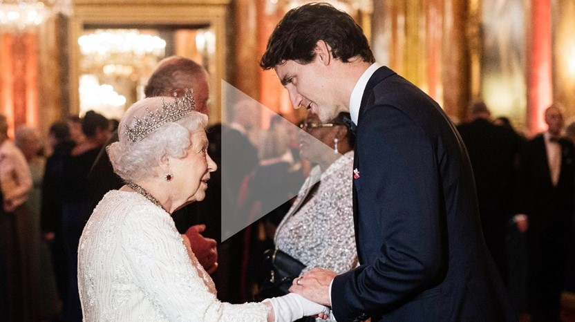 Queen Elizabeth II and Justin Trudeau