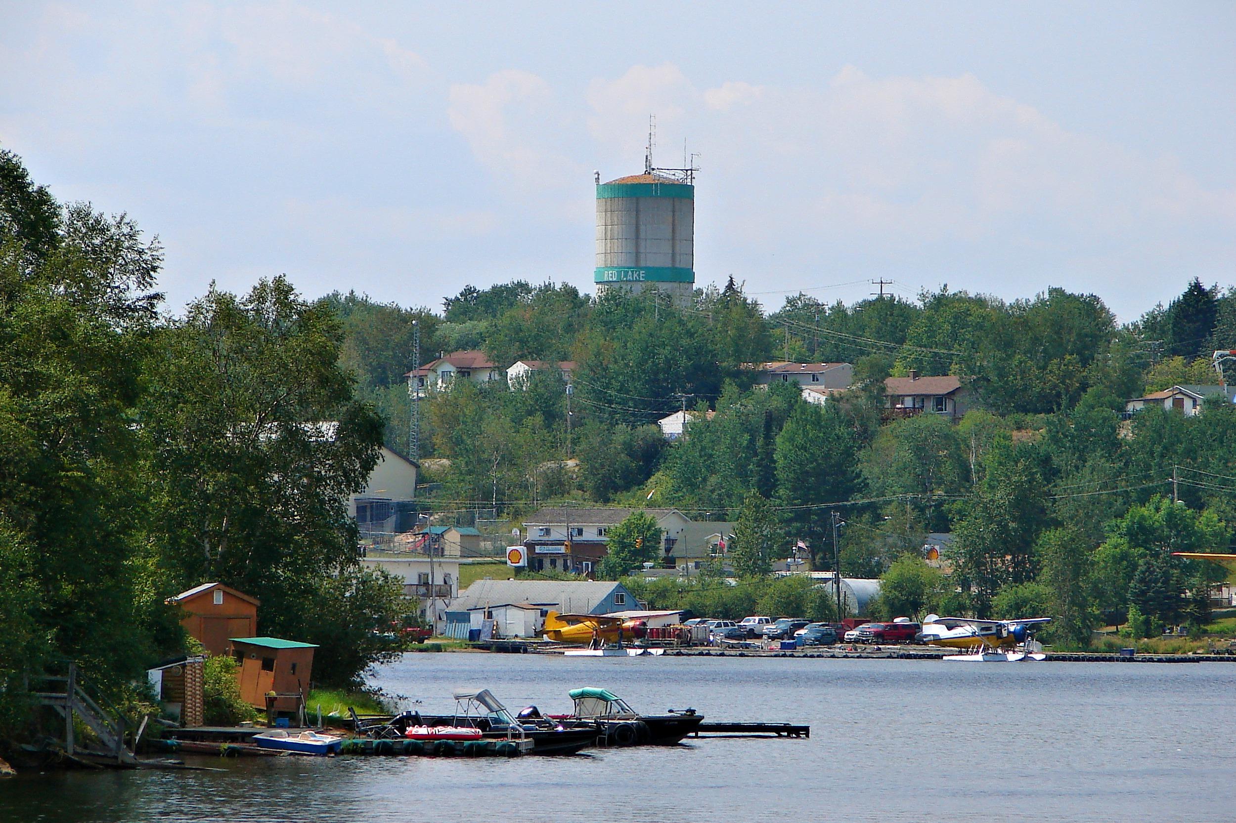 Lake-view shot of Red Lake Ontario