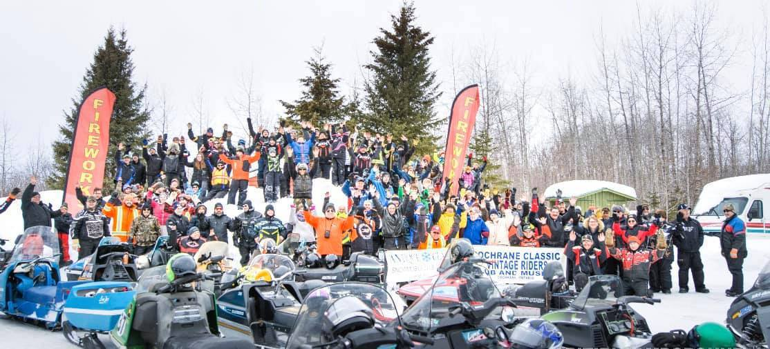 more than 100 snowmobilers