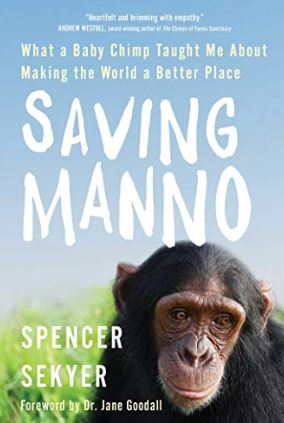 book cover showing a chimp