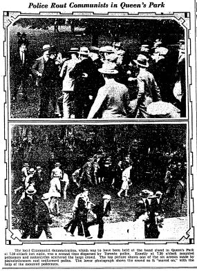 photos of the Queen's Park Riot