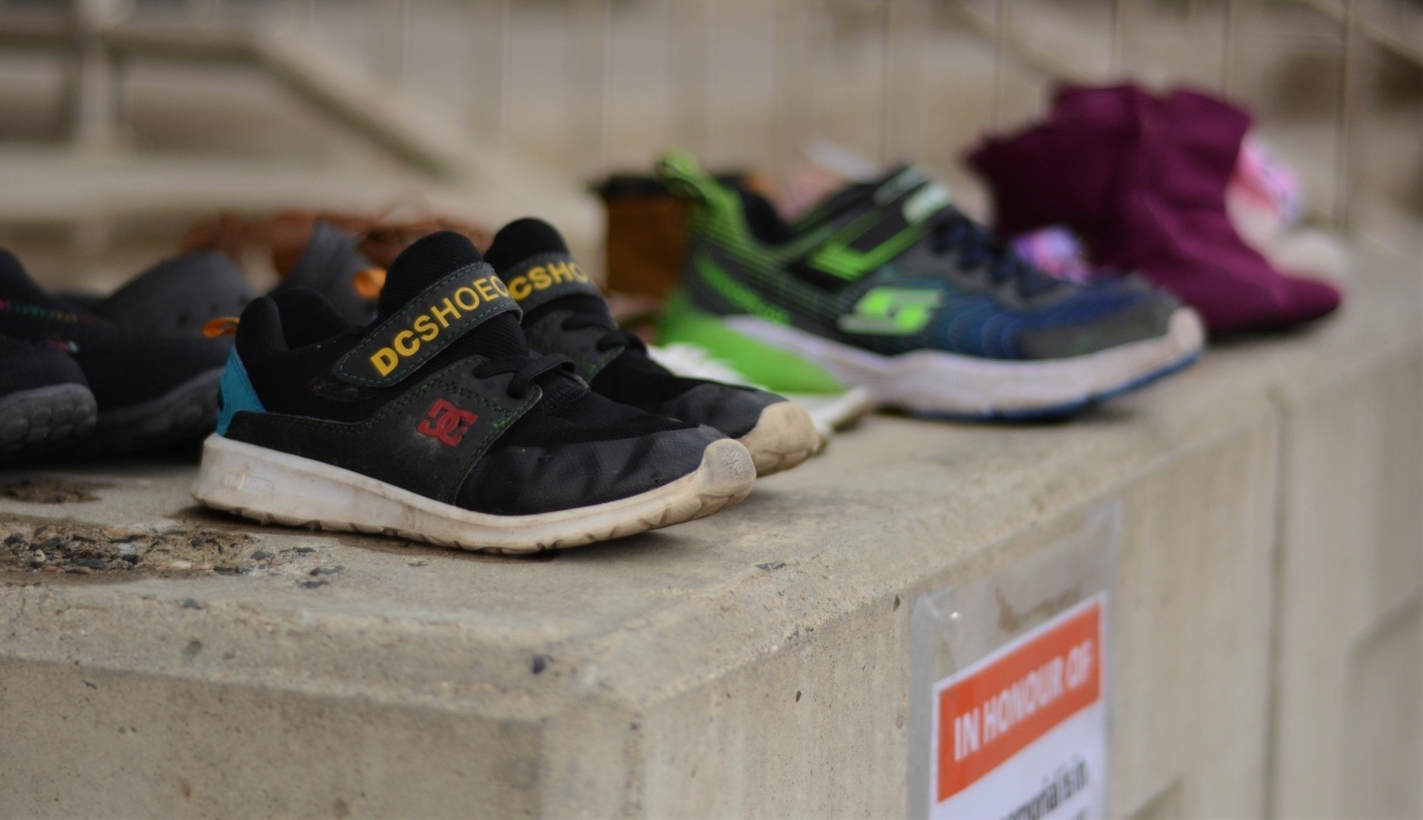closeup of children's shoes