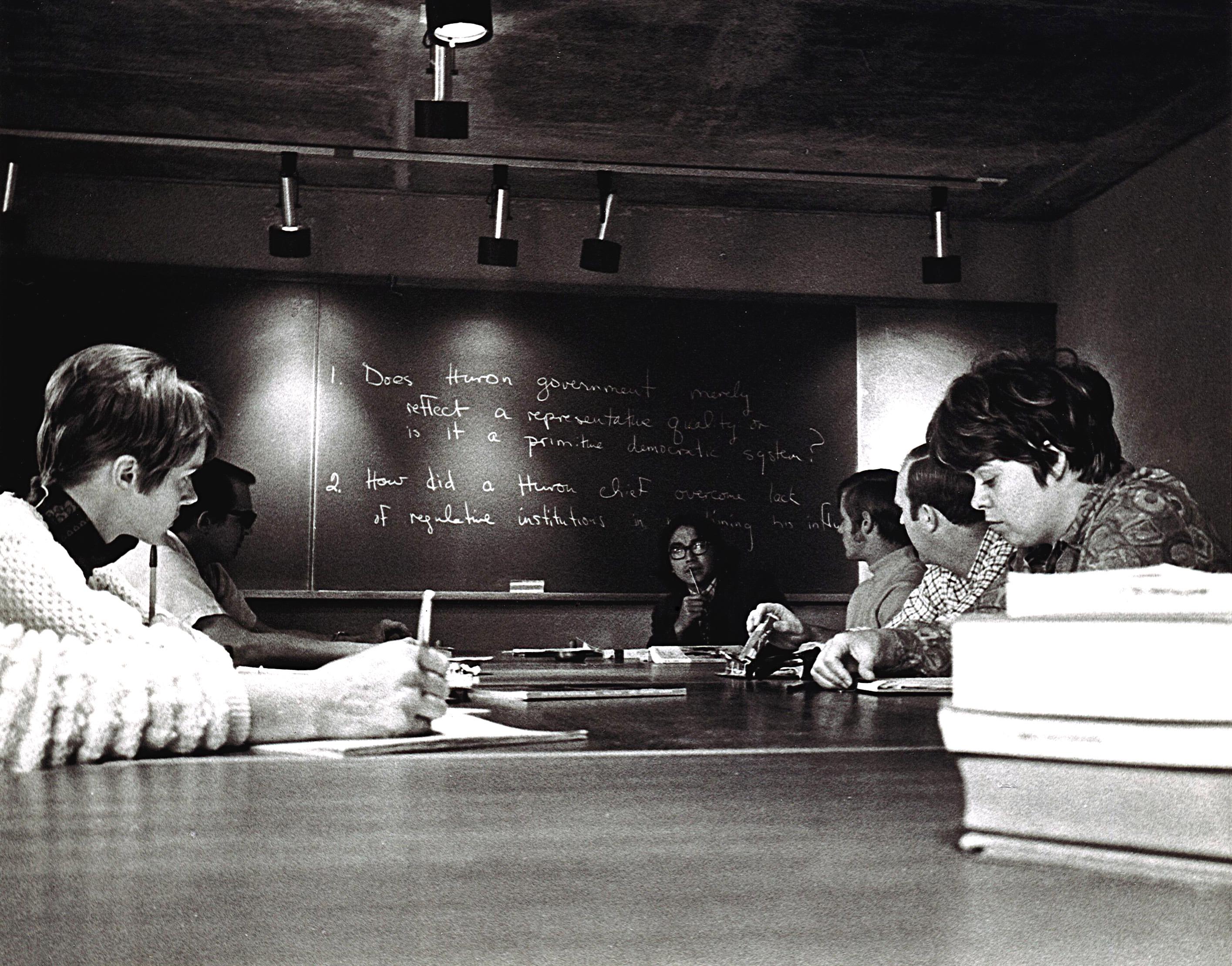 Waubageshig teaching at Trent University