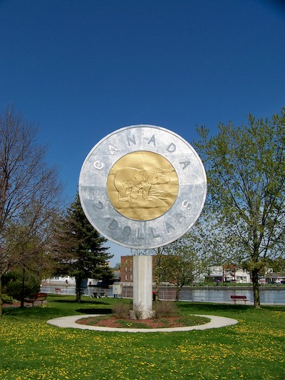 a giant coin replica