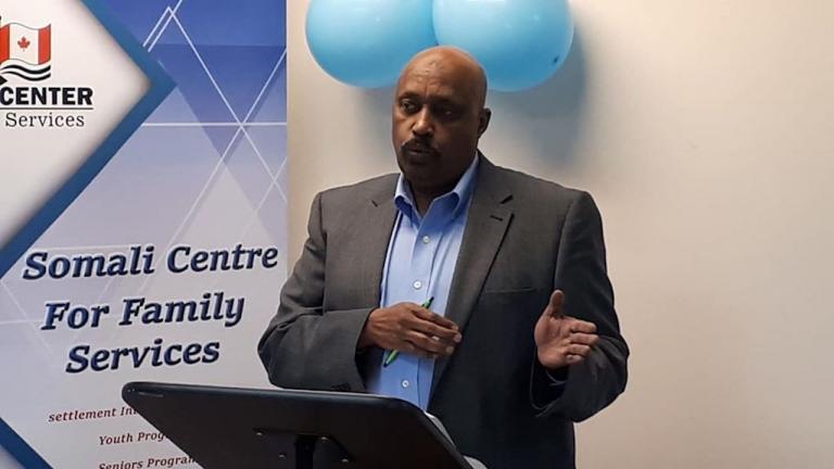 Abdirizak Karod, the executive director of the Somali Centre for Family Services