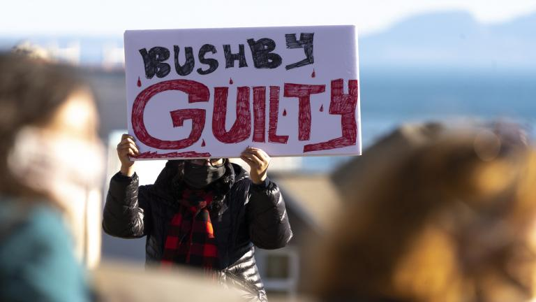 bushby protest from the article Indigenous women react to the Brayden Bushby verdict