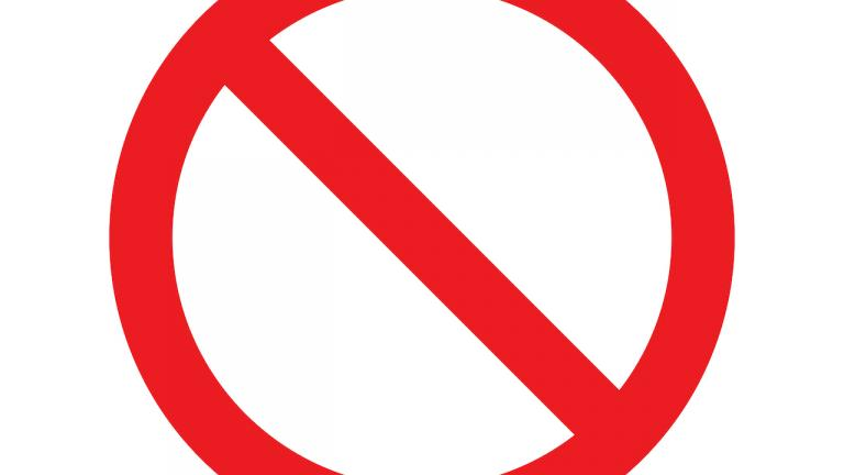 a prohibited sign