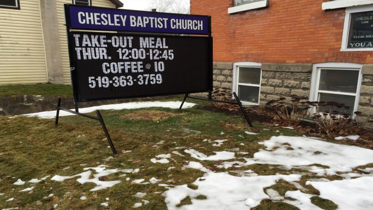 Chelsey Baptist Church from the article How this Ontario church is tackling food insecurity
