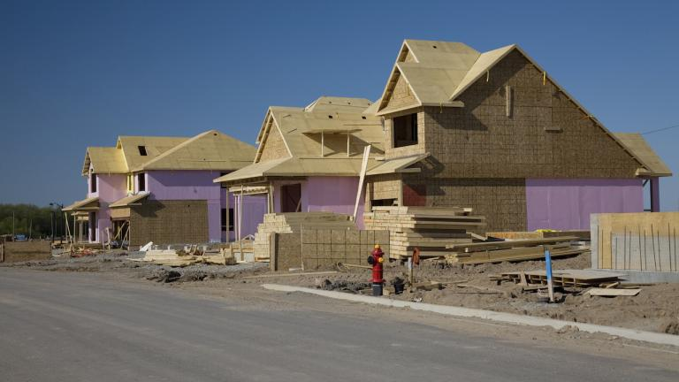 homes under construction from the article What should Ontario's Growth Plan look like in a pandemic — and after?