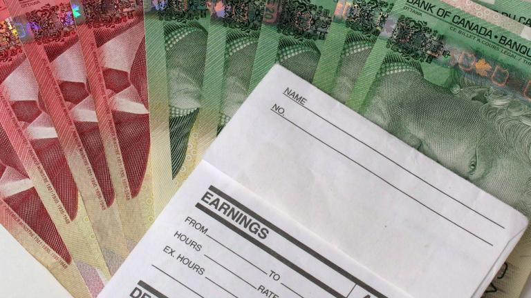 earnings form with Canadian money