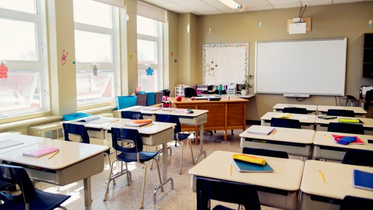 school classroom from the article Why the government should spend its summer thinking about September