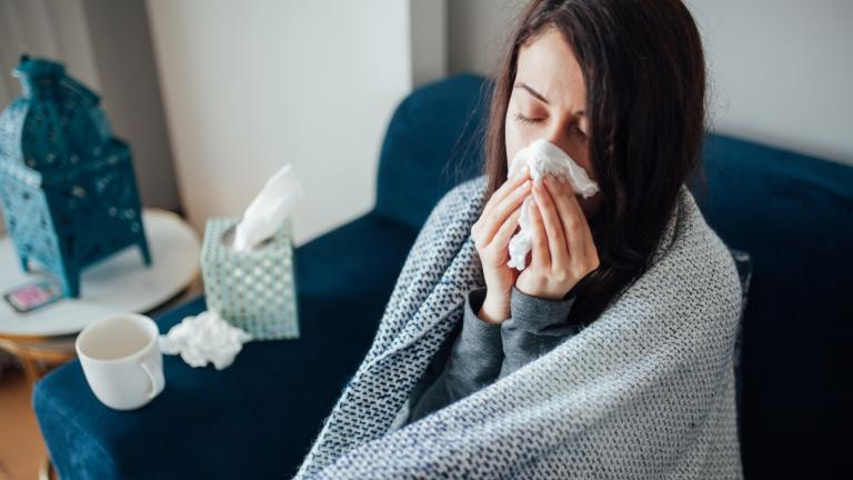 person feeling sick