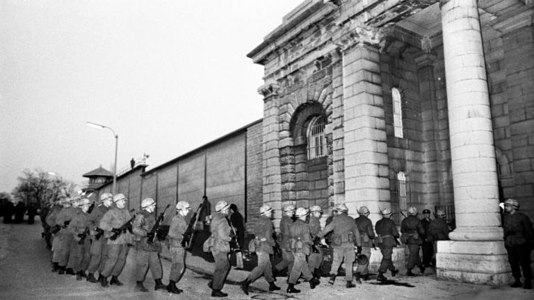 archival photo of Kingston Penetentiary riots in 1971
