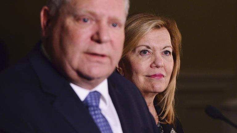 Doug Ford and Christine Elliott