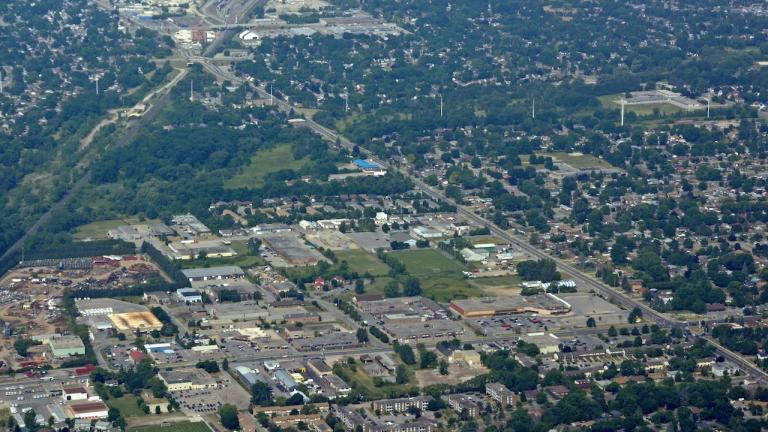 aerial view of a city from the article What new rules mean for Ontarians waiting for social housing