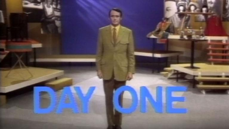 A man stands on a stage wearing a suit from the article 'A whole new world of television': How TVO's launch avoided disaster and won over critics