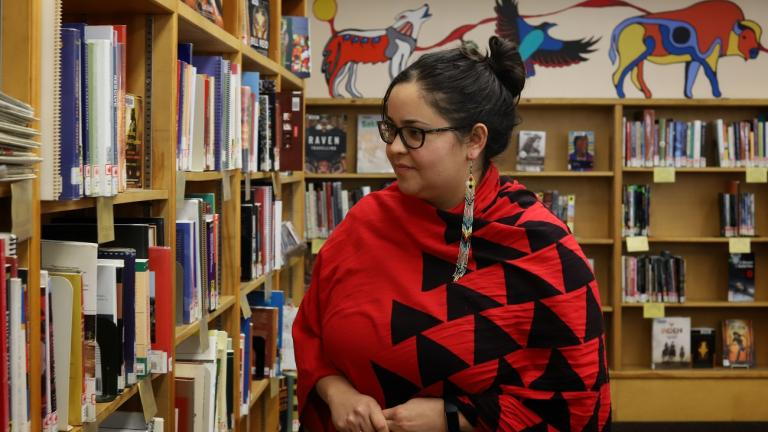 a woman walking in library from the article 'You've got to start at home': How the Thunder Bay library is fighting racism